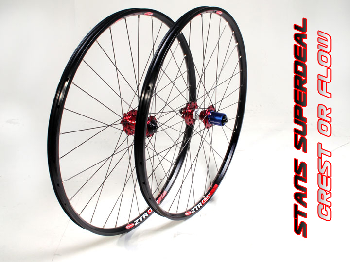 + Stans Rims Superdeal - Crest or Flow On Switch EVO Hubs